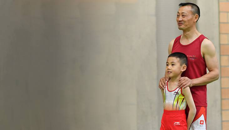 Donghua Li mit Sohn Janis (Archiv).