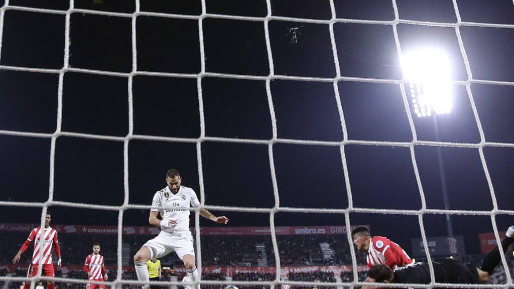 Karim Benzema avancierte mit zwei Toren zum Matchwinner für Real Madrid beim 3:1 in Girona im Viertelfinal-Rückspiel im spanischen Cup