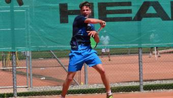 Noël Kunz punktete im letzten Gruppenspiel gleich doppelt für den TC Teufenthal.