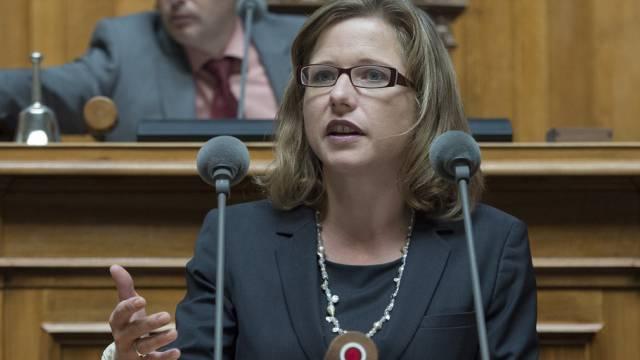 Nationalrätin Christa Markwalder spricht zum Verjährungsrecht