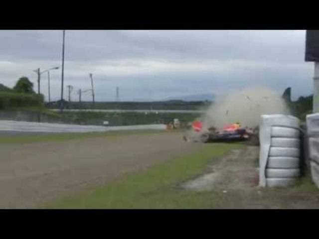F1 2015 Japan Suzuka - Rote Flagge für Daniil Kvyat nach Crash