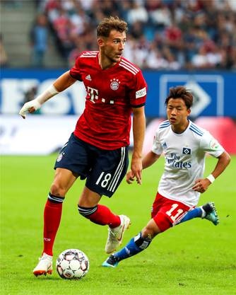 Leon Goretzka (vorne) ist der einzige nahmhafte Bayern-Zugang auf diese Saison hin.