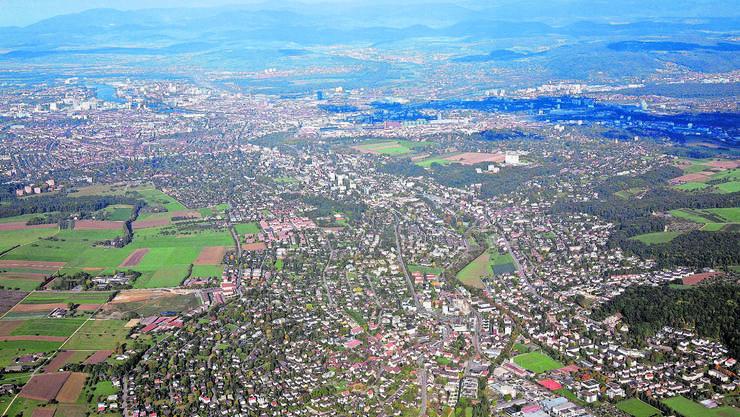 Das Leimental will es der Birsstadt gleich tun und einen Verein gründen. Im Vordergrund ist Oberwil, dahinter folgen Binningen, Bottmingen und Basel.