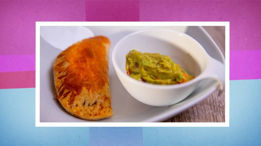 Vorspeise: Vegi-Empanadas mit Bohnen und Champignons