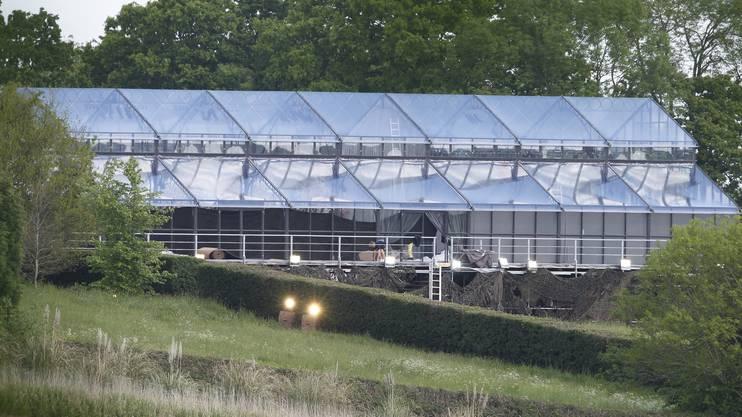 Diesen Glaspalast liess Pippa extra für ihre Hochzeit aus Belgien importieren.