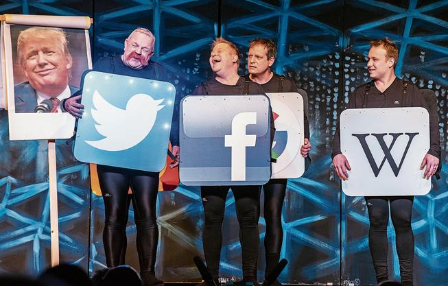 Die digitalen Medien in ein Riesenchaos gestürzt: die Cabarettisten mit der Nummer «Zoff im Netz».