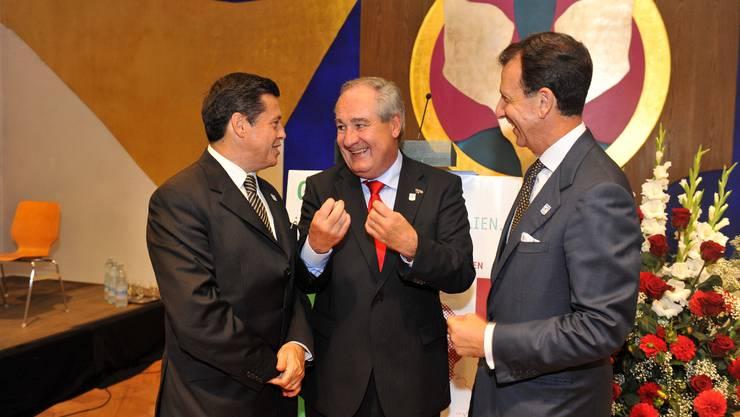 Boris Banga mit Senator Fantetti und Botschafter Deodato.