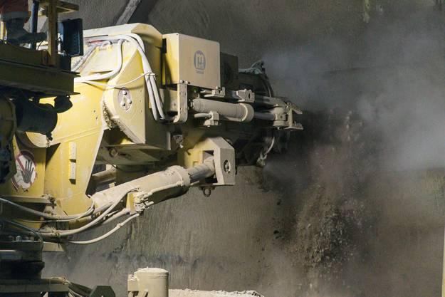 Medienanlass zur Besichtigung der Baustelle der dritten Röhre des Gubristtunnels. (16. Mai 2018)