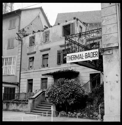 Auch ein Stück Ennetbadener Geschichte: Der Niedergang des Kurbetriebs im 20. Jahrhundert war unaufhaltsam – nicht zuletzt wegen des Durchgangsverkehrs. Hier der Abbruch der Dépendance des «Hirschen» im Jahr 1976.