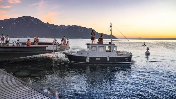 Ruhige Klänge auf dem Genfer See.