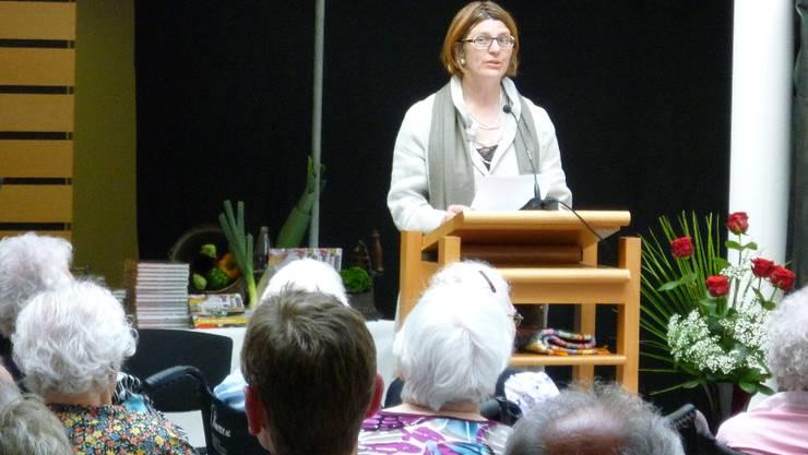 Heimleiterin Christina Affentranger wandte sich gegen eine Separierung von Demenzkranken. Fotos: tru