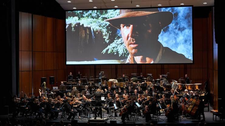Kino und Livemusik:  Das Basler Sinfonieorchester begleitet Indiana Jones.