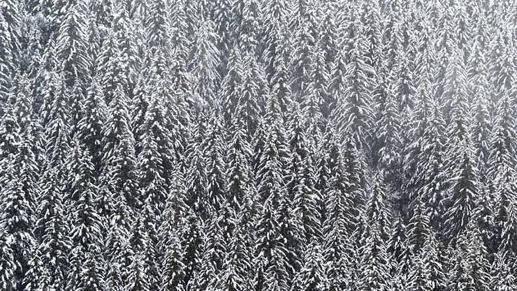 Der Wintereinbruch wirkt sich in Graubünden aus: Steigende Lawinengefahr, geschlossene Pässe, dazu war Samnaun am Montagmorgen auf der Schweizer Seite nicht erreichbar. (Symbolbild KEYSTONE/Anthony Anex)