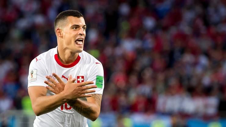 Der zensierte Doppeladler war ein Höhepunkt der Nationalmannschafts-Kampagne WM 2018.