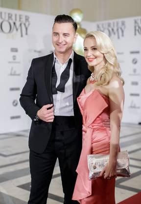 Andreas Gabalier und seine Freundin Silvia Schneider bei einer Gala in der Hofburg in Wien am 22. April 2017.