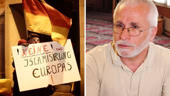 Der Präsident der Basler Muslim Kommission, Cem Karatekin, setzt sich gegen eine Pegida-Demo in Basel ein.