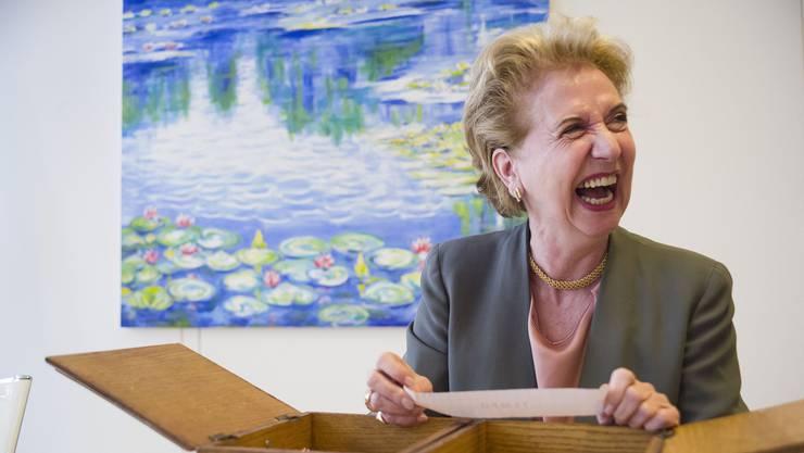 Muss beim Begriff «Tempo» erst einmal herzhaft lachen: Uni-Rektorin Andrea Schenker-Wicki.