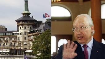 Das Luxushotel und sein Besitzer Urs Schwarzenbach – er steht unter Verdacht, illegalen Kunsthandel betrieben zu haben.