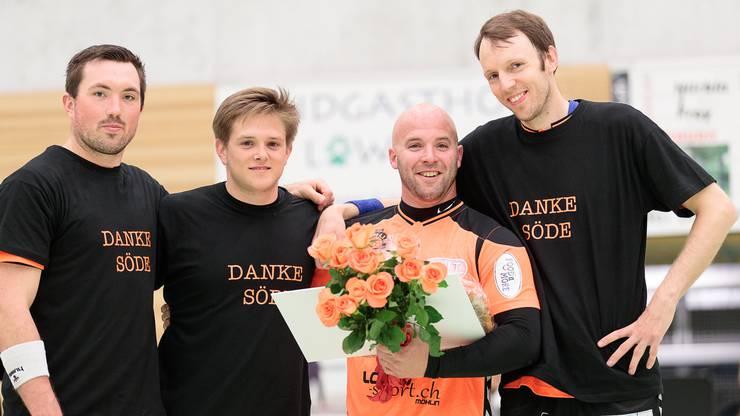 Florian Doormann, Jonas Buholzer, Sandro Soder, Marcus Hock (v.l).