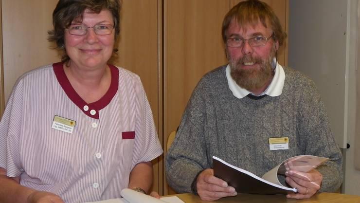 Zentrumsleiter Heinz Stucki und seine Stellvertreterin Felicitas Görgner sind mit dem Ergebnis der Studie zufrieden.
