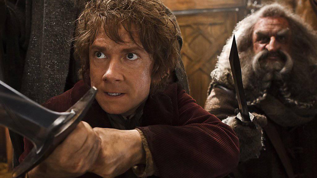 """Der Kampf um Werbeerlöse aus den Filmreihen """"Hobbit"""" und """"Herr der Ringe"""" ist vorbei: Die Erben des Buchautors Tolkien einigten sich mit dem Hollywood-Studio Warner Bros. (Archivbild)"""