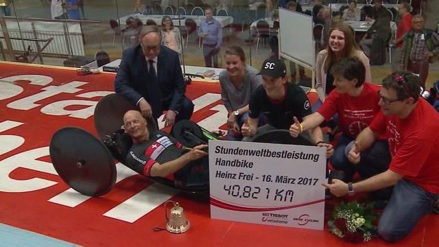 Heinz Frei stellt Handbike-Rekord auf