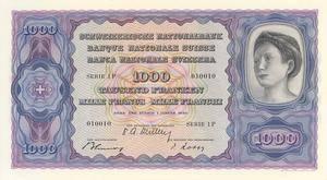 1938 im typischen violettblau - doch diese Note wurde nie veröffentlicht.