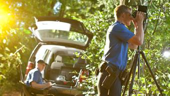Bei den Kontrollen mit dem Lasermessgerät erfasste die Kantonspolizei acht Schnellfahrer. (Themenbild)