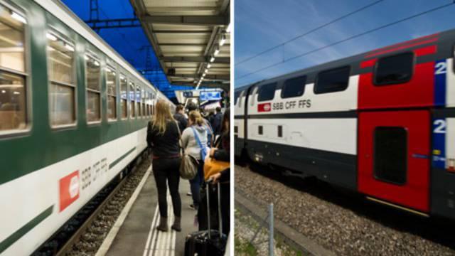Umdenken bei der SBB: Im Grossraum Zürich prüft die SBB, ob sie teilweise von Doppelstockzügen wieder auf einstöckige Zugkompositionen umsteigen will.