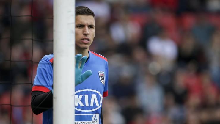 Er war der grosse Rückhalt auf dem Weg in die Barrage: FC-Aarau-Goalie Djordje Nikolic.