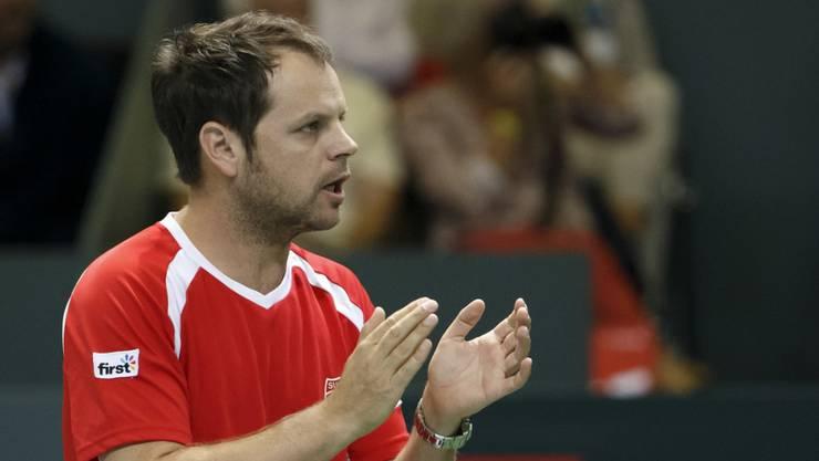 Der Schweizer Davis-Cup-Captain Severin Lüthi
