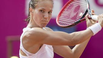 Konzentriert zum Sieg: Viktorija Golubic steht in Bastad in der 2. Runde