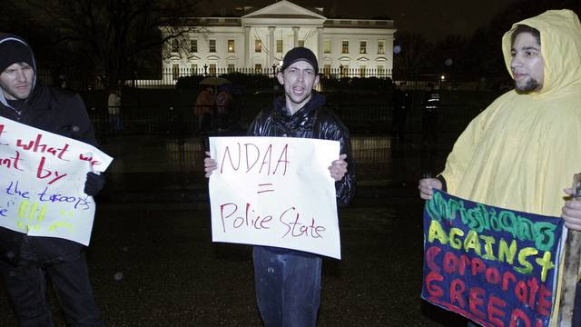 Aktivisten der Occupy-Bewegung vor dem Weissen Haus