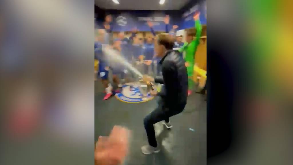 So ausgelassen feiert Chelsea den Champions League-Titel