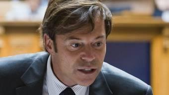 Christoph Mörgeli wenige Tage nach Bekanntwerden der Vorwürfe, die zu seiner Entlassung durch die Uni Zürich führten.keystone