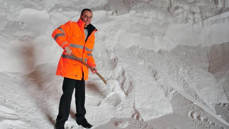 Schon 700 Tonnen Streusalz verbraucht