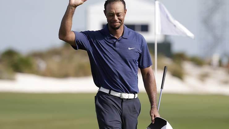 Tiger Woods ist schon wieder leutselig