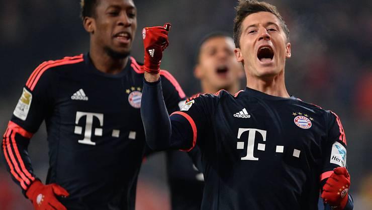 Doppelpack: Robert Lewandowski schoss beide Bayern-Tore