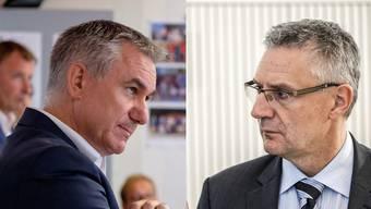 In der Sache Lehrplan 21 sind sie klare Gegner: Bildungsdirektor Alex Hürzeler und SVP-Parteikollege Andreas Glarner.