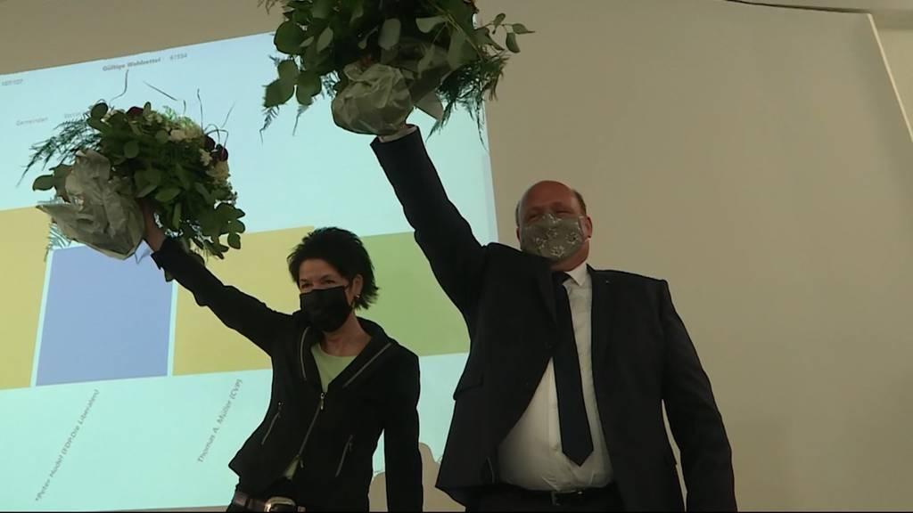 Sandra Kolly (CVP) und Peter Hodel (FDP)
