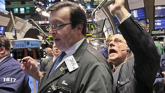 Händler auf US-Börsenparkett