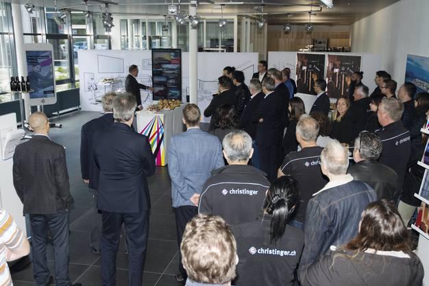 Die FirmaChristingerAG verlegt den Sitz nach Brugg und nimmt den Betrieb auf im Wildischachen.