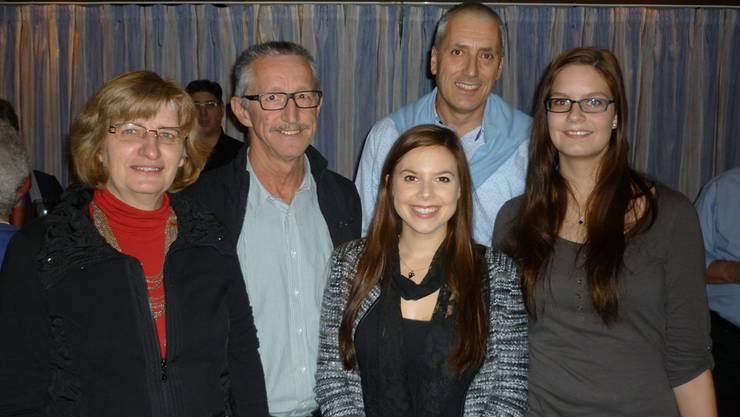 Die Stadt- und Gemeinderats-Spitzenkandidaten der EVP am Jahresabschluss, v.l.: Christiane Ilg-Lutz, Werner Synnatschke, Naemi Weinmann, Heinz Illi, Nadine Burtscher
