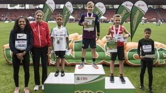 Siegerehrung am UBS Kids Cup.