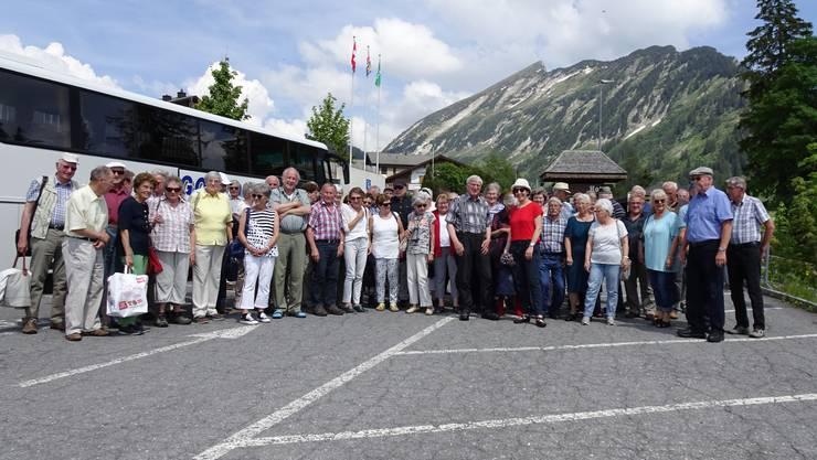 Vor der prächtigen Bergkulisse  zeigten sich die Reisenden