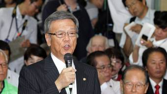 Takeshi Onaga nach Wahlsieg