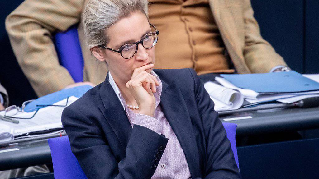 Alice Weidel, Fraktionsvorsitzende der AfD im deutschen Bundestag, bezeichnet die Vorwürfe in der Spendenaffäre als lächerlich. (Archiv)