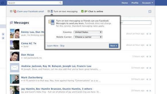 So wird der Mail-Dienst von Facebook aussehen
