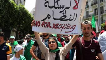 In ganz Algerien protestierten die Menschen gegen die Regierung von Übergangspräsident Abdelkader Bensalah, der auf unbestimmte Zeit im Amt bleiben will.