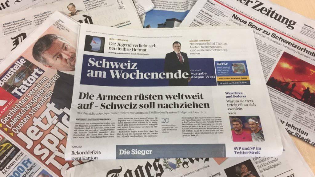 Die «Schweiz am Wochenende» kommt jetzt am Samstag mit all den anderen Samstagszeitungen daher.